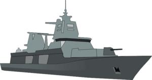 bateau illustrant la bataille navale