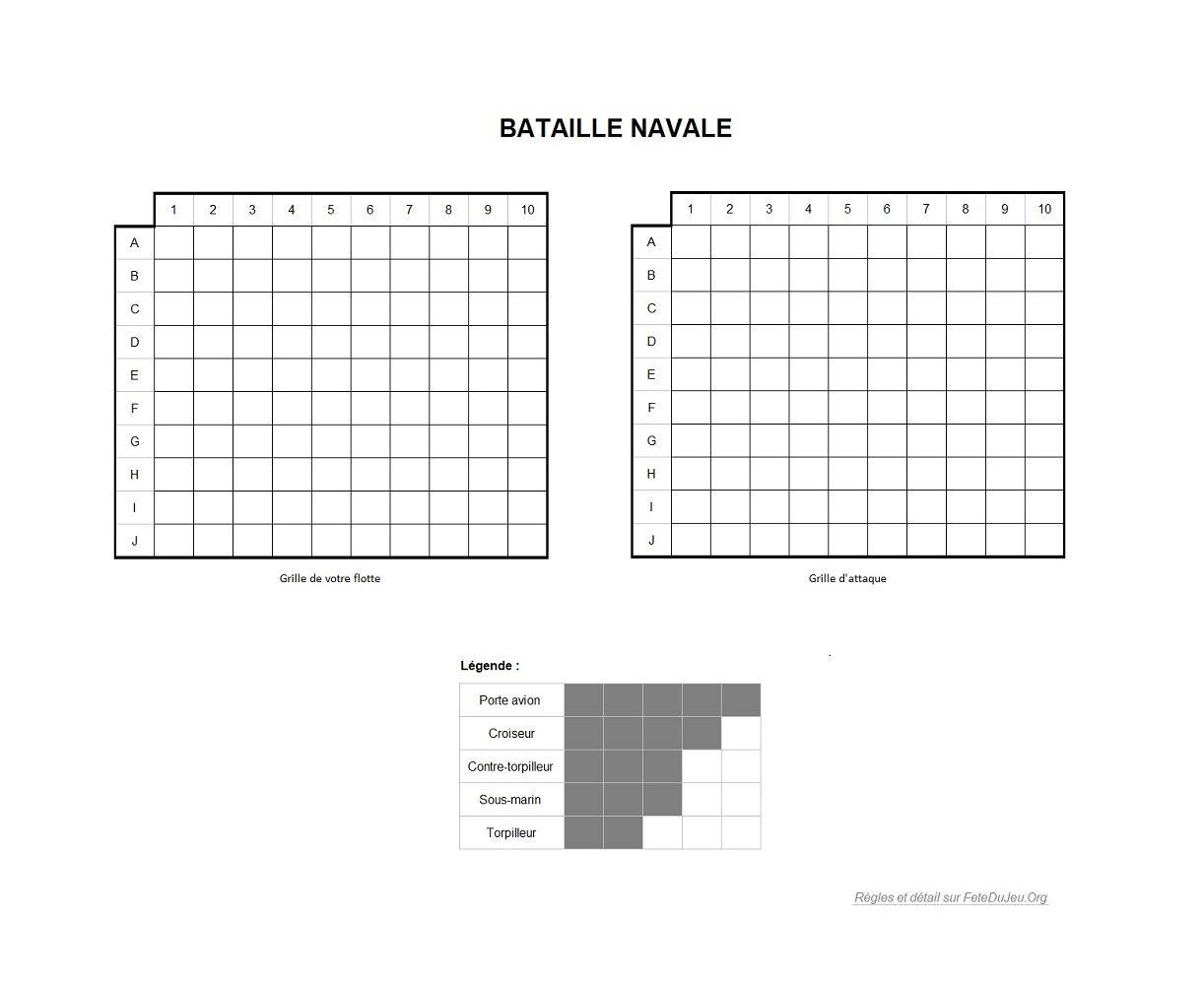 R gles de la bataille navale grilles de jeu - Grille de bataille navale a imprimer ...